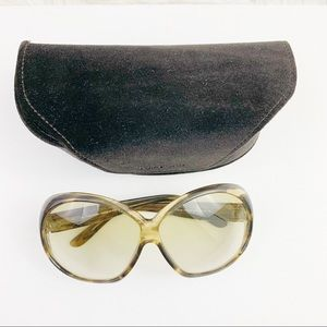 Tom Ford Natalia oversized round sunglasses